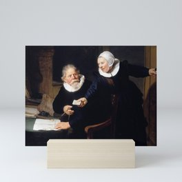 The Shipbuilder and his Wife: Jan Rijcksen (1560/2-1637) and his Wife, Griet Jans Mini Art Print