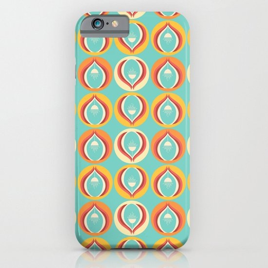 50's floral pattern V iPhone & iPod Case
