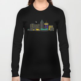 Wichita, Kansas Skyline Long Sleeve T-shirt