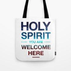 Holy Spirit: Blue Cyan Red Tote Bag