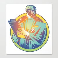 doctor Canvas Prints featuring Doctor by David Chestnutt