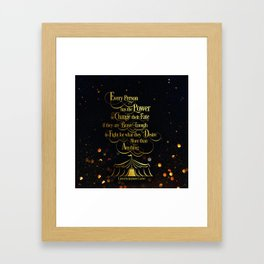Caraval - Change Your Fate Framed Art Print