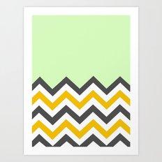 Color Blocked Chevron 13 Art Print
