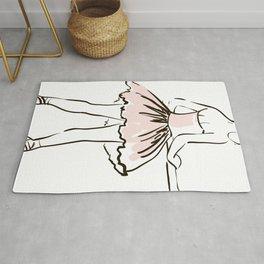 hand drawing ballerina figure Rug