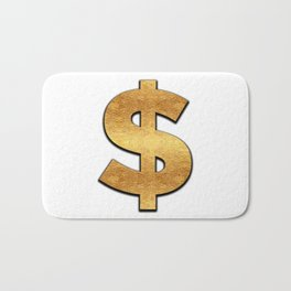 Gold Dollar Sign Bath Mat