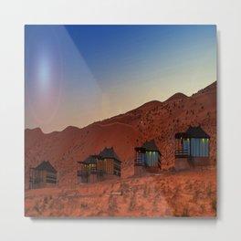 1000 nights camp oman 2 Metal Print