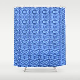 Ice Cave Blue Shower Curtain