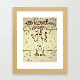 The Adorable Bunny Framed Art Print
