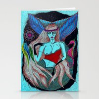 hippy Stationery Cards featuring Hippy Marmeid by Ša Rūnė