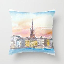 Stockholm old Town Gamla Stan Throw Pillow