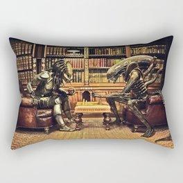 Alien V Predator Rectangular Pillow