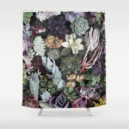 succulent garden Shower Curtain