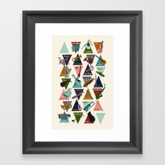 Alphabet of Instruments Framed Art Print