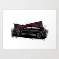 audi Art Prints featuring RS3 by an.artwrok