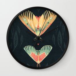 Moth Wings I Wall Clock