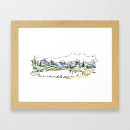 Whistler Alpine Lakes Framed Art Print