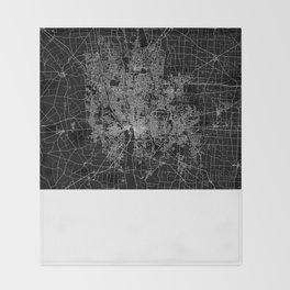 Columbus map ohio Throw Blanket