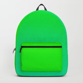 Lime Green and Sea Foam Green Ombre Backpack