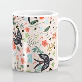 Around The Garden on Pink Coffee Mug