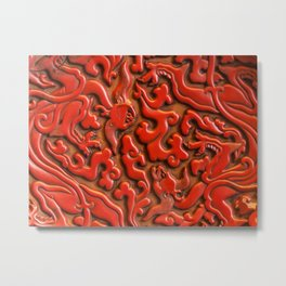 Red Walls of Asia Metal Print