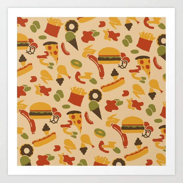 Fast Foodouflage Art Print