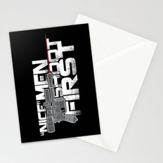 Nice Men Shoot First Stationery Cards