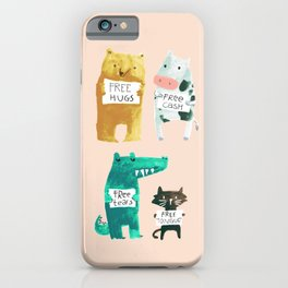 Animal idioms - its a free world iPhone Case