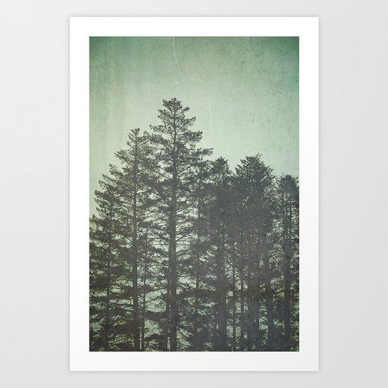 Trees in Fog Art Print