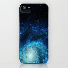 Teal Pinwheel Galaxy Slim Case iPhone SE