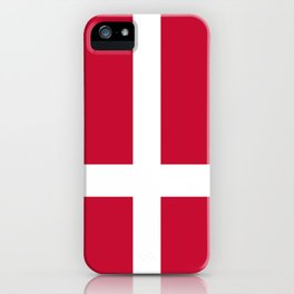 The flag of danmark iPhone Case