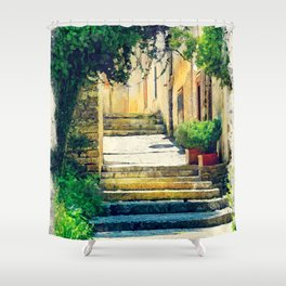 Erice art 8 Shower Curtain