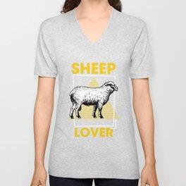 Sheep Lover - Herd, Sheep, Genus Melopha Unisex V-Neck