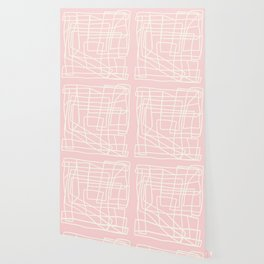 Lost Lines in Pink Wallpaper