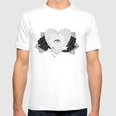 Heart Queen Mens Fitted Tee MEDIUM White