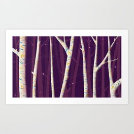 Tree Party Two Art Print