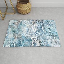 Sea foam blue marble Rug
