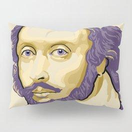 Shakespeare - royal purple and yellow Pillow Sham