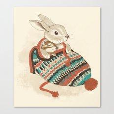 cozy chipmunk Canvas Print