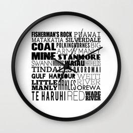 Hibiscus Coast V5 Wall Clock