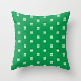 Dash / horizontal line dotted pattern Throw Pillow