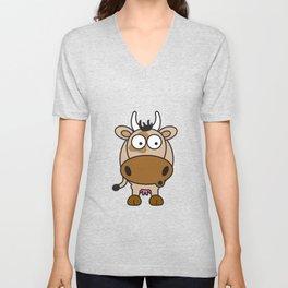 Ooh Zoo – farm-series, Cow Unisex V-Neck