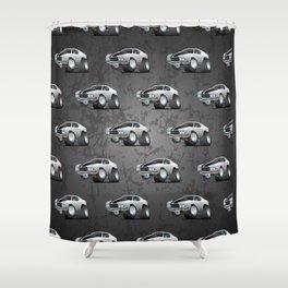 Classic Seventies American Muscle Car Cartoon Shower Curtain