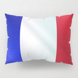 French Grunge Flag Gloss Pillow Sham