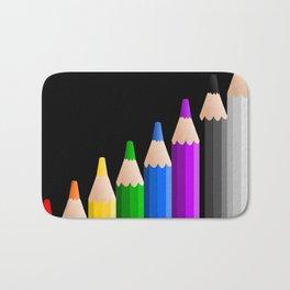ColoredPencils Bath Mat