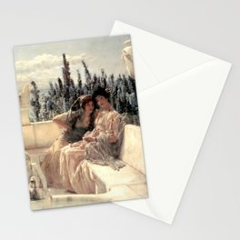 Whispering Noon 1896 by Sir Lawrence Alma Tadema   Reproduction Stationery Cards