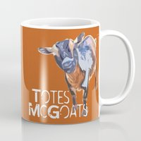 """totes Mugs featuring """"Totes McGoats!"""" ~ Nigerian Dwarf Goat Pop Art Photography!  Gotta Love the Goaty-Woaties! by Canis Picta"""