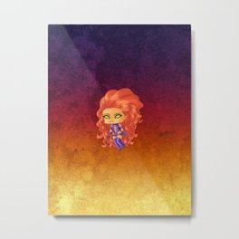 Chibi Starfire Metal Print