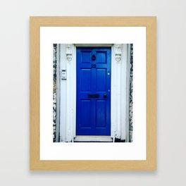 Blue Irish door Framed Art Print