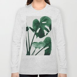 Monstera Vibes #1 #minimal #green #decor #art #society6 Long Sleeve T-shirt