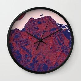 Kinshasa, DR Congo, Blue, White, City, Map Wall Clock